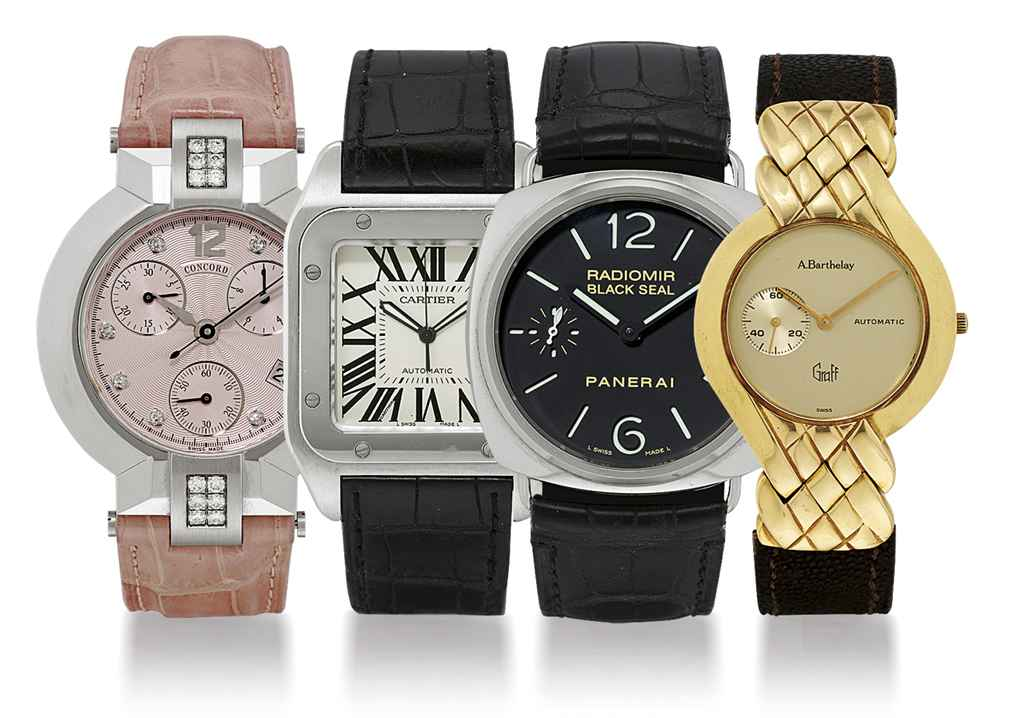 A GROUP LOT OF FOUR WRISTWATCHES