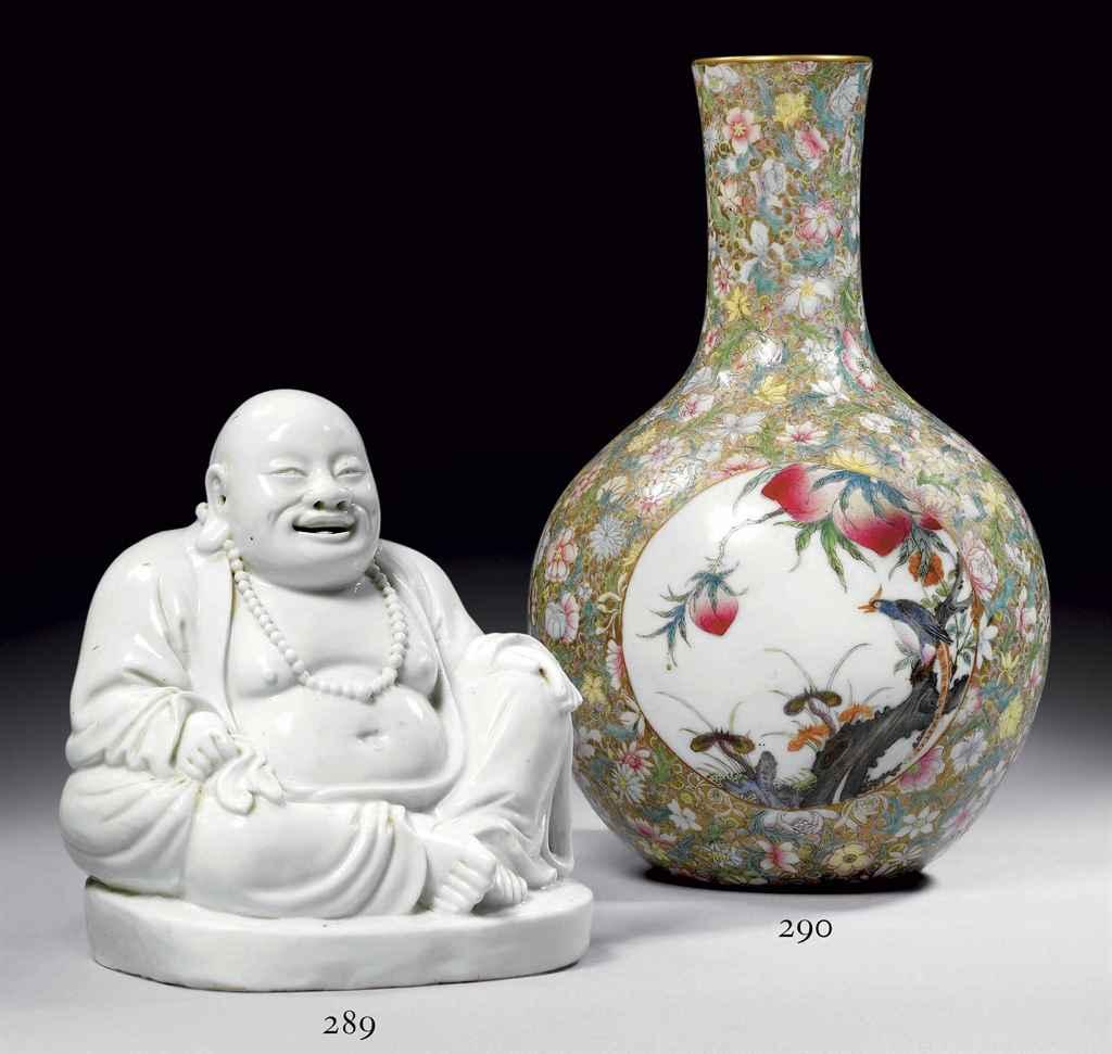 Vase bouteille en porcelaine polychrome chine fin de la dynastie qing 1644 1911 christie 39 s for Porcelaine de chine