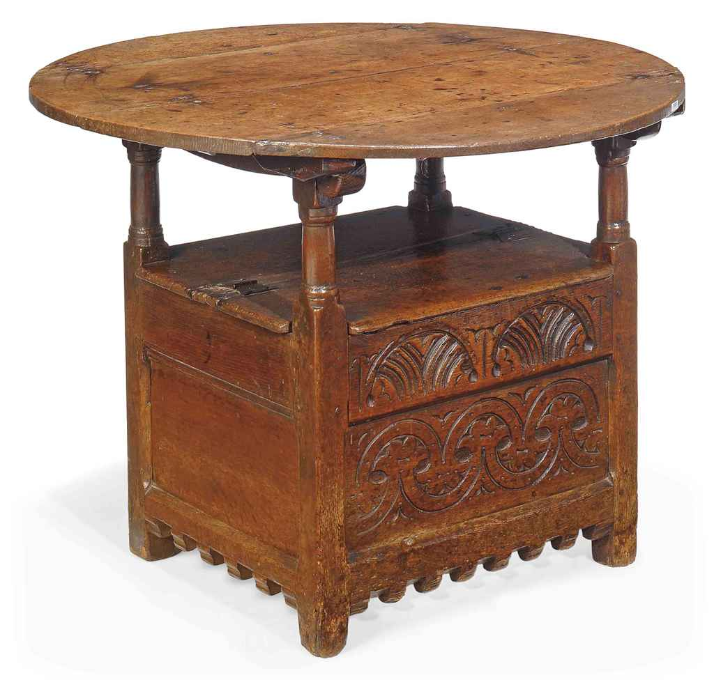 Chair table 17th century - A Charles Ii Oak Chair Table