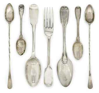 A GROUP OF NINETEEN MALTESE SILVER ITEMS OF FLATWARE | VARIOUS