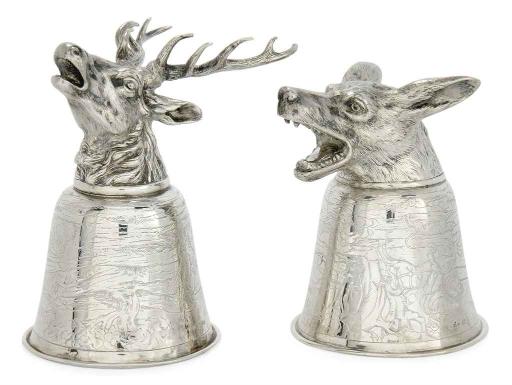 A PAIR OF GERMAN SILVER STIRRU
