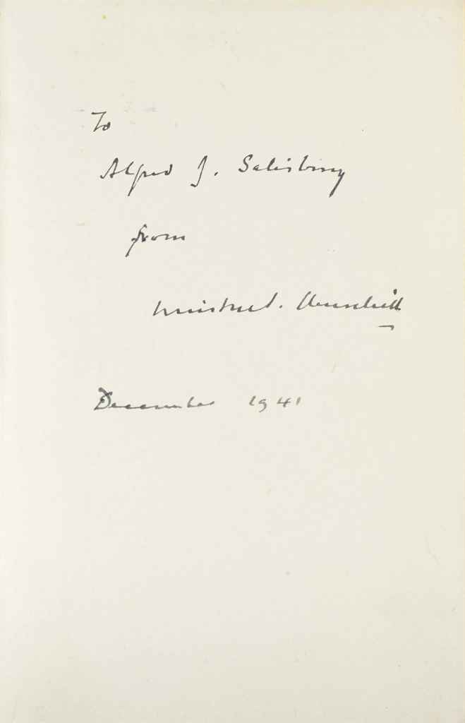 CHURCHILL, Winston S A COMPLETE SIGNED AND INSCRIBED SET OF ...