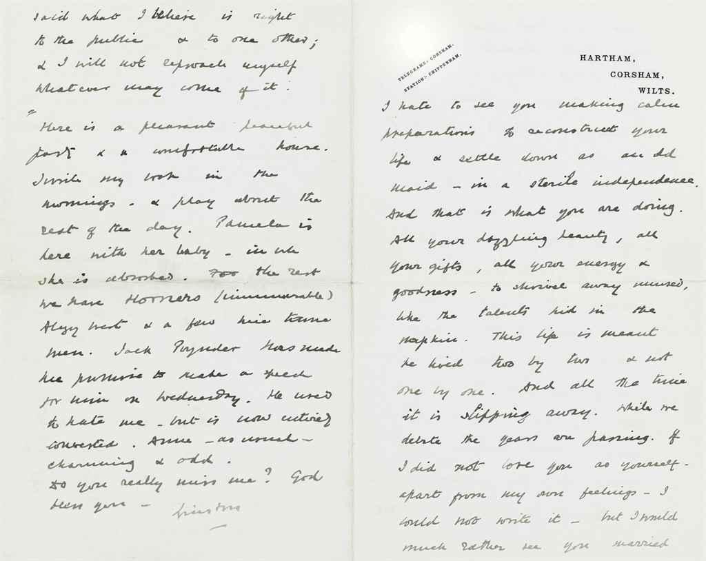 CHURCHILL, Winston S Autograph letter signed (
