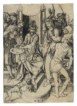 martin_schongauer_christ_before_pilate_f