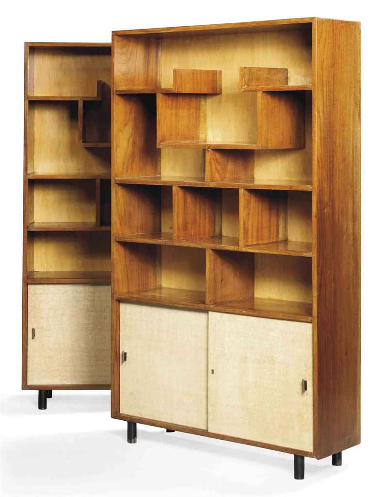 A PAIR OF ITALIAN WALNUT BOOKC