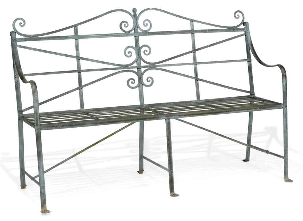 A PAINTED REGENCY WROUGHT-IRON