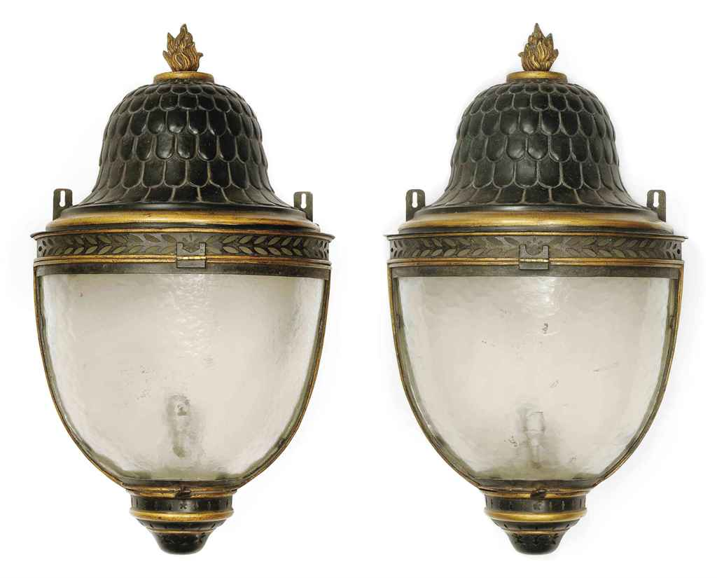 A PAIR OF FRENCH TOLE-PEINTE A