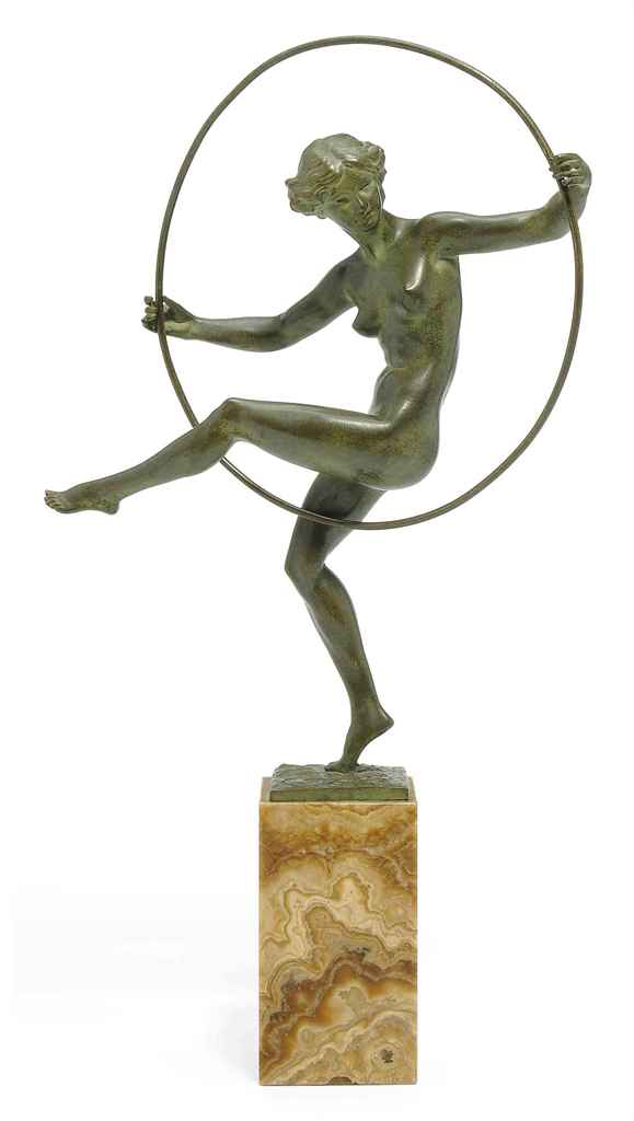 'GIRL WITH HOOP' A MARCEL-ANDR