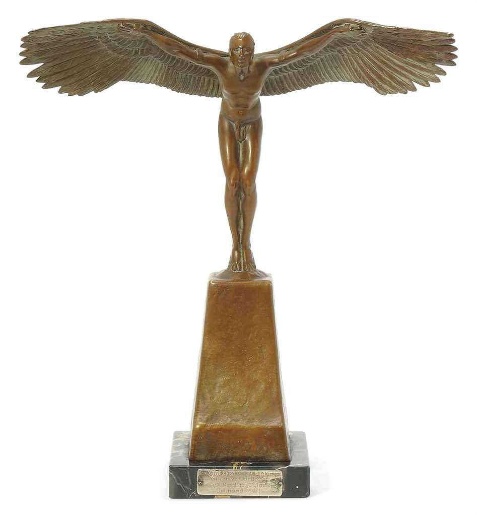 'ICARUS' A CHOTKA PATINATED BR