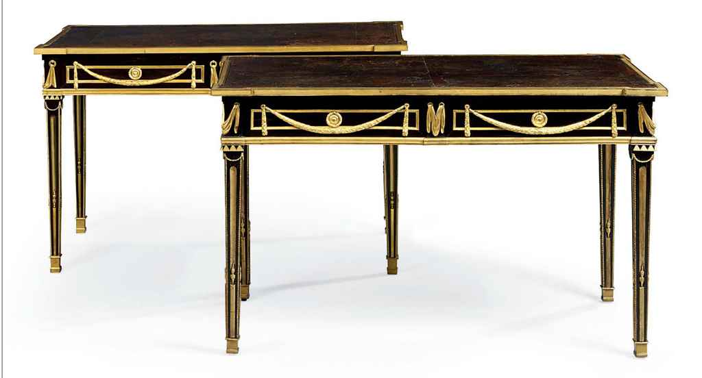 A MATCHED PAIR OF ORMOLU-MOUNT