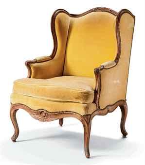 bergere a oreilles d 39 epoque louis xv. Black Bedroom Furniture Sets. Home Design Ideas