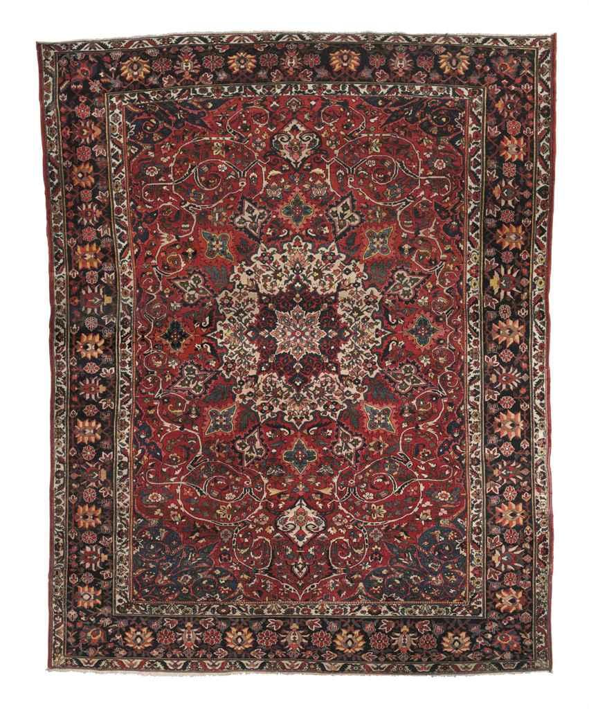 An unusual Bakhtiari carpet