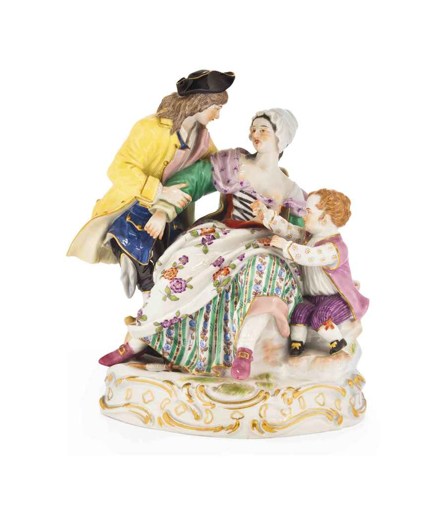 A MEISSEN FAMILY GROUP