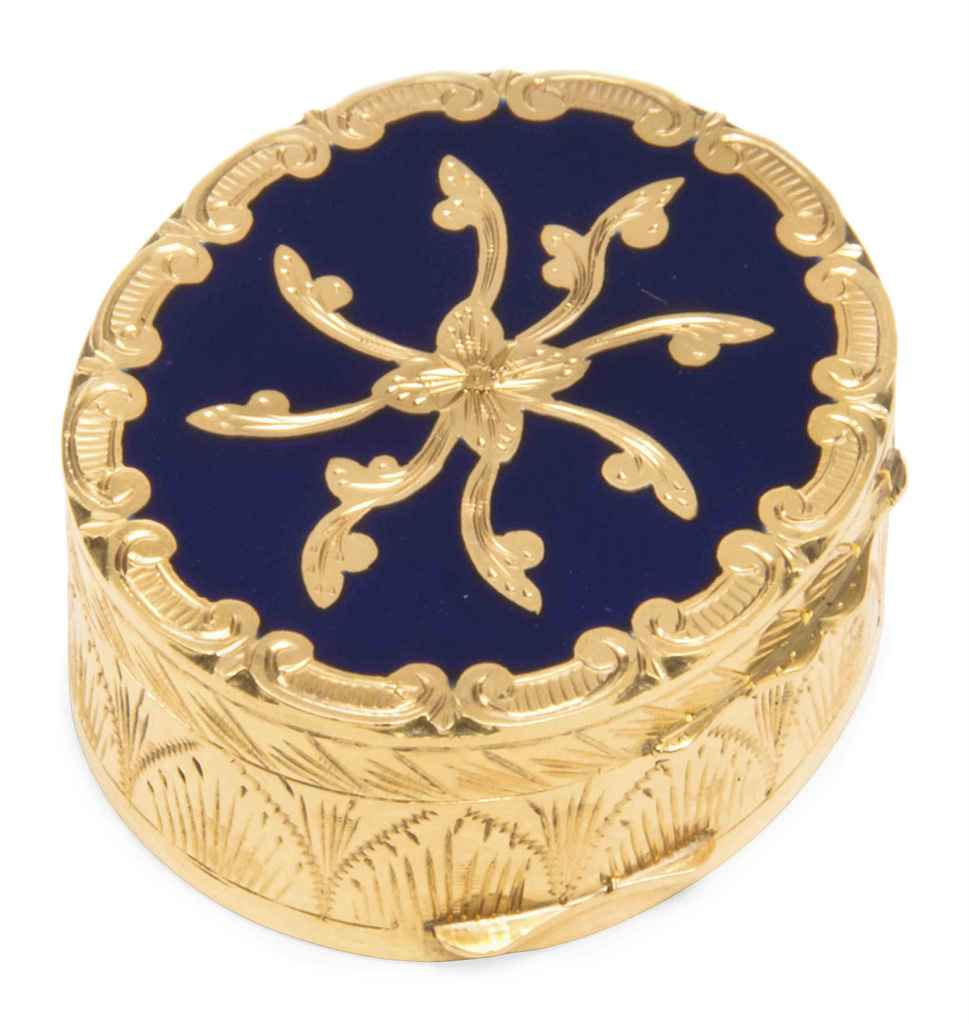 A CONTINENTAL GOLD AND BLUE-EN