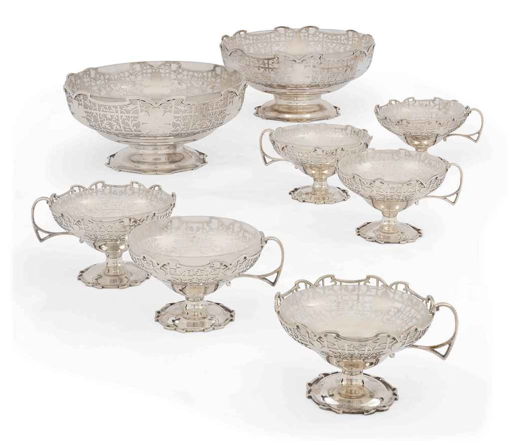 A MATCHED SUITE OF SIX SILVER