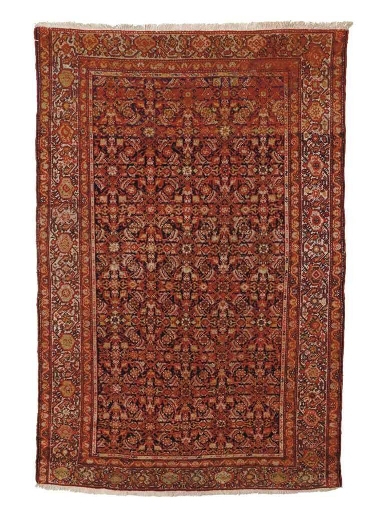 An antique Malayir rug & Hamad