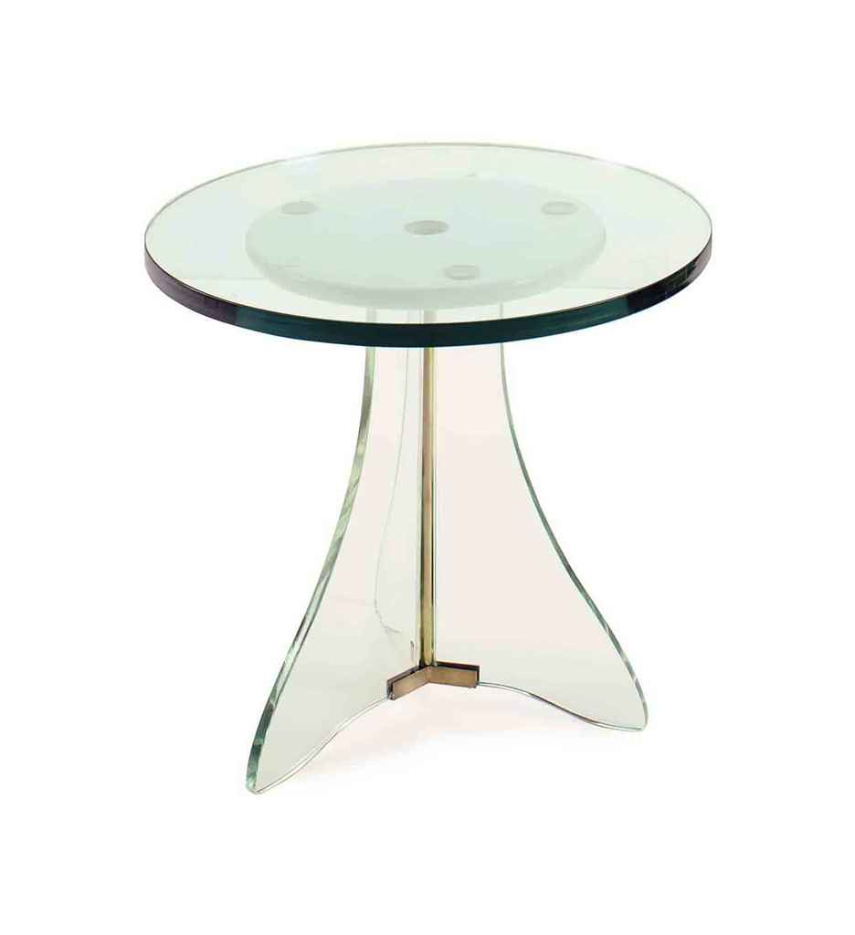 A CONTEMPORARY GLASS TOP SIDE