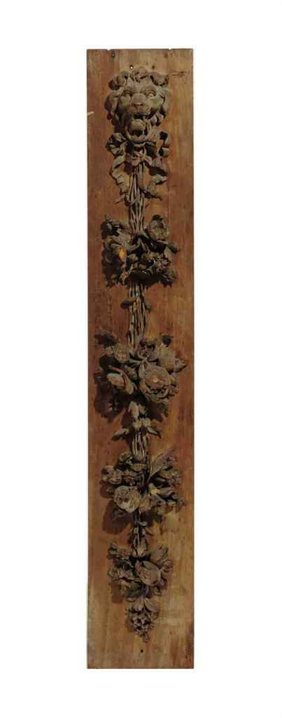 A FRENCH CARVED LIMEWOOD BAS R