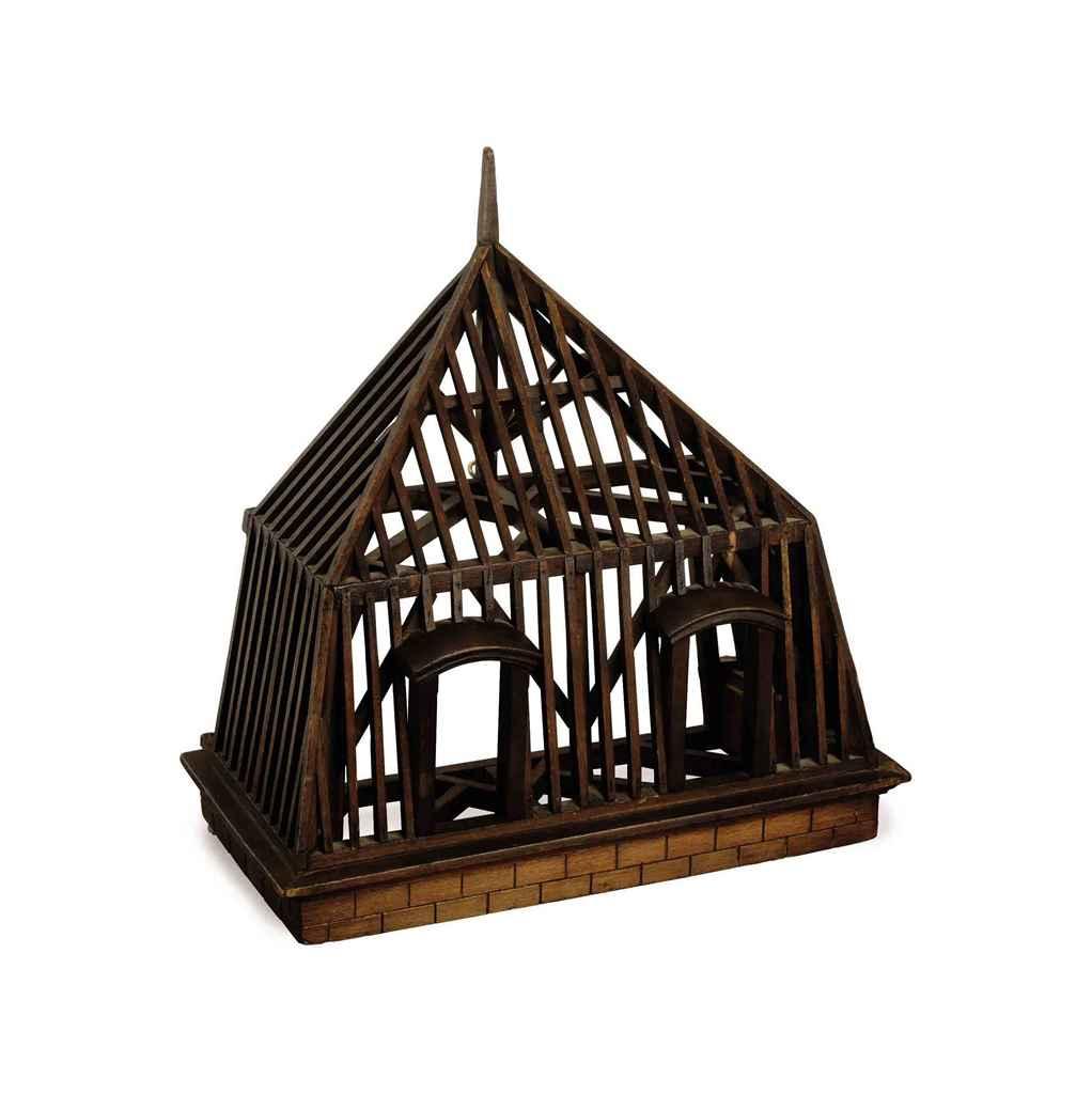A FRENCH MAHOGANY ARCHITECTURA