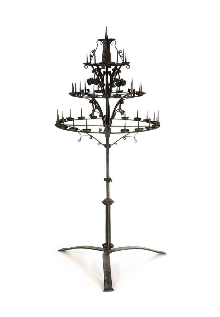 AN ITALIAN WROUGHT-IRON FORTY