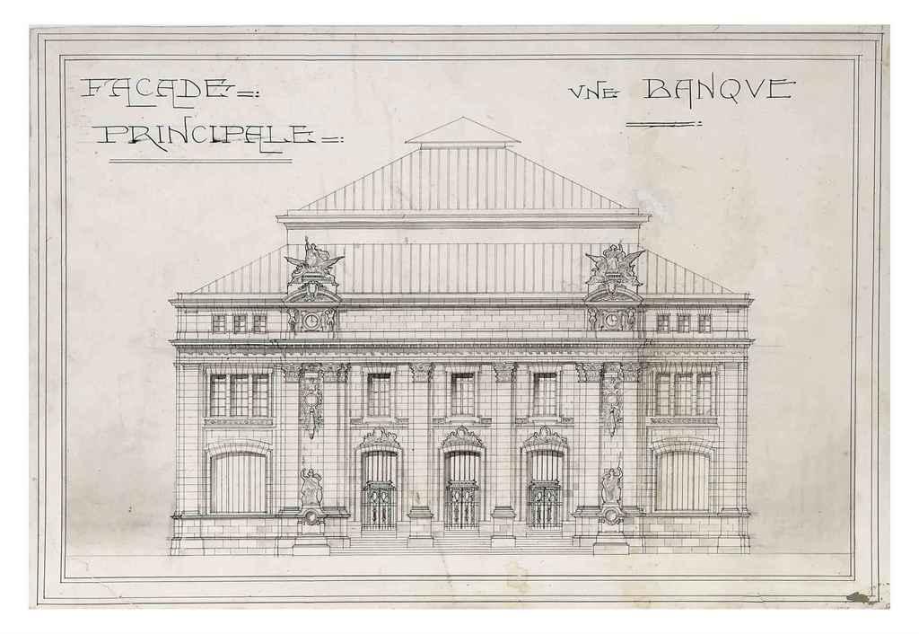 A GROUP OF TEN ARCHITECTURAL E