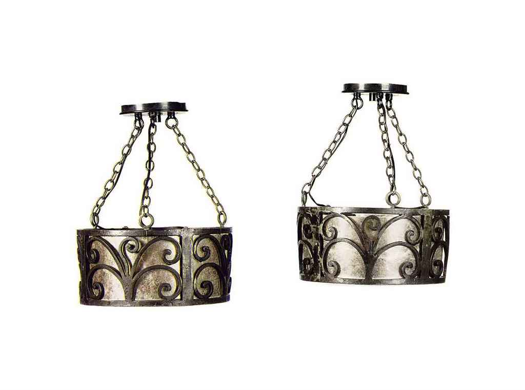 A PAIR OF CONTINENTAL WROUGHT-