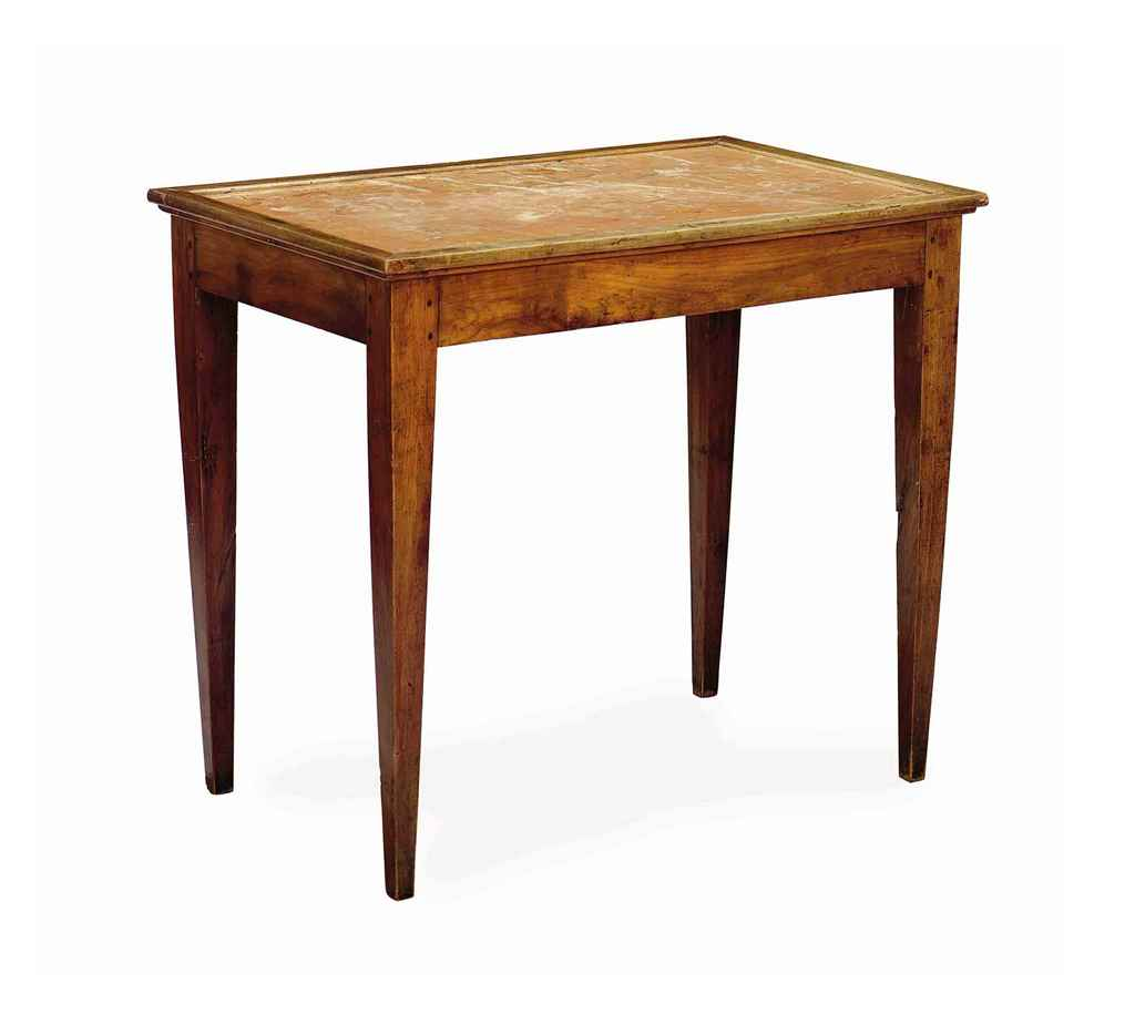 A FRENCH CHERRY, WALNUT AND IN