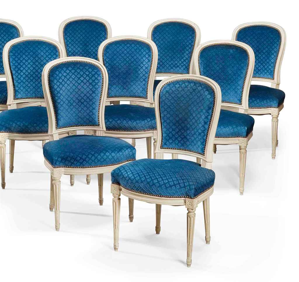 Suite de dix huit chaises en cabriolet de style louis xvi xxeme siecle christie 39 s - Chaises de style ancien ...