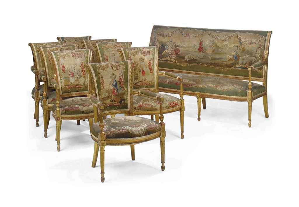 A french giltwood salon suite of louis xvi style late for 212 salon st louis