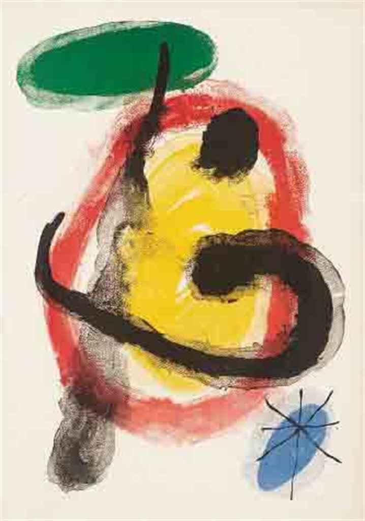Joan miro 1893 1983 peintures murales mourlot 227 for Peintures murales