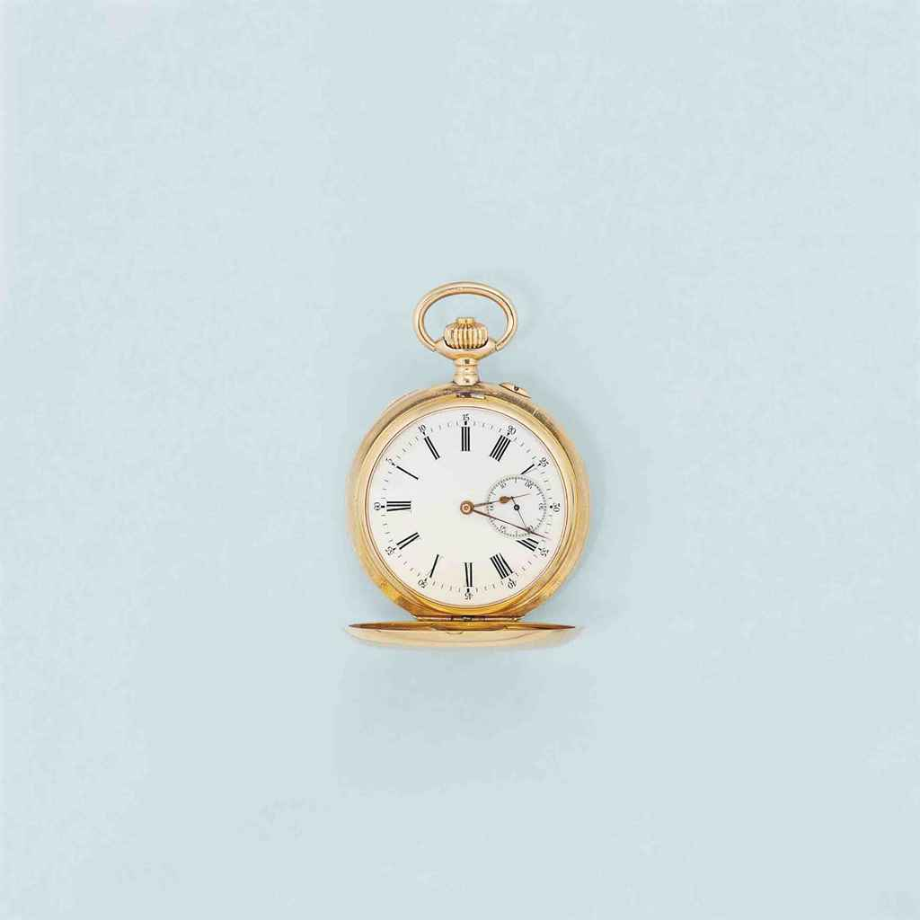 A gold hunting cased pocket watch, by paul Buret, made for t...