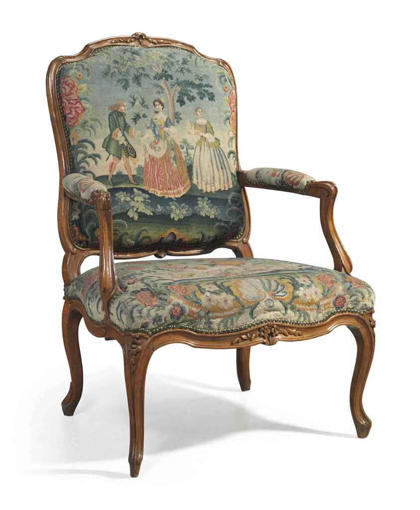 A Louis Xv Beechwood Fauteuil By Charles Francois Normand Circa 1740 Christie 39 S