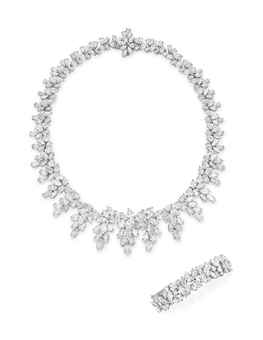 Lotfinder Jewelry A Set Of Diamond Jewelry By Tiffany 5487241 Details Tiffany & Co Jewelry