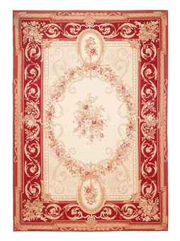 AN AUBUSSON STYLE CARPET