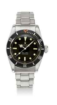 ROLEX. A RARE STAINLESS STEEL AUTOMATIC WRISTWATCH WITH SWEEP CENTRE SECONDS AND LARGE CROWN