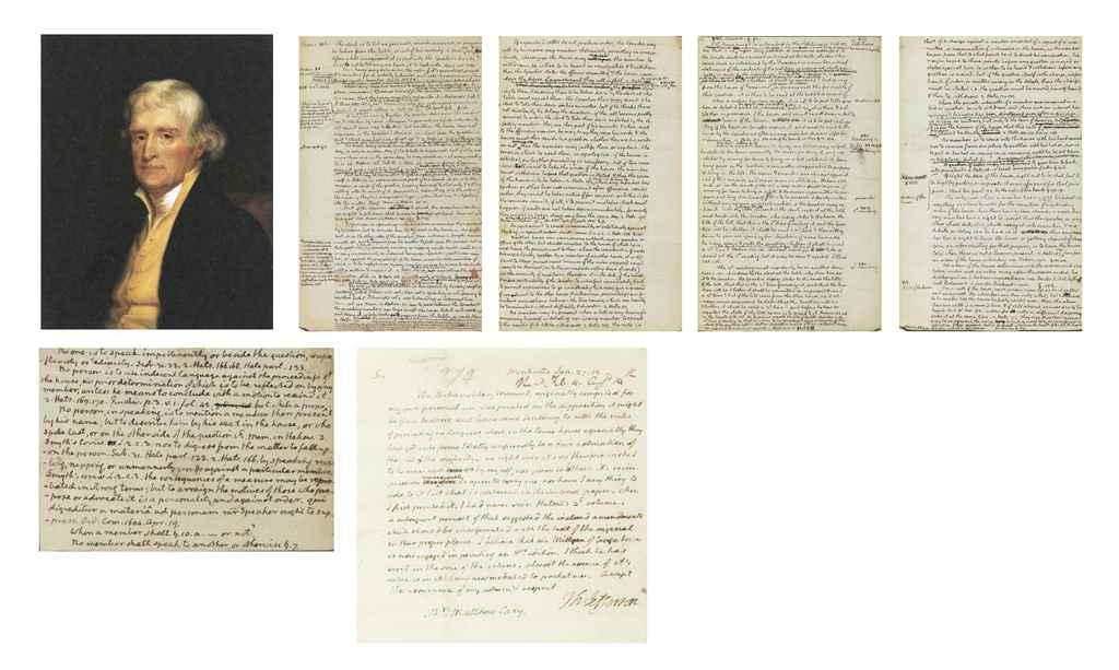 JEFFERSON, Thomas Autograph letter signed (