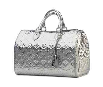 A SILVER MONOGRAM VERNIS SPEEDY MIRROR BAG
