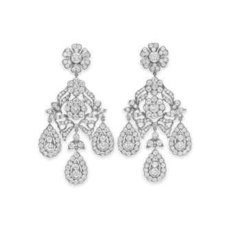 THE MIKE TODD DIAMOND EAR PENDANTS A PAIR OF DIAMOND EAR PENDANTS