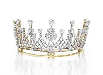 THE MIKE TODD DIAMOND TIARA AN ANTIQUE DIAMOND TIARA