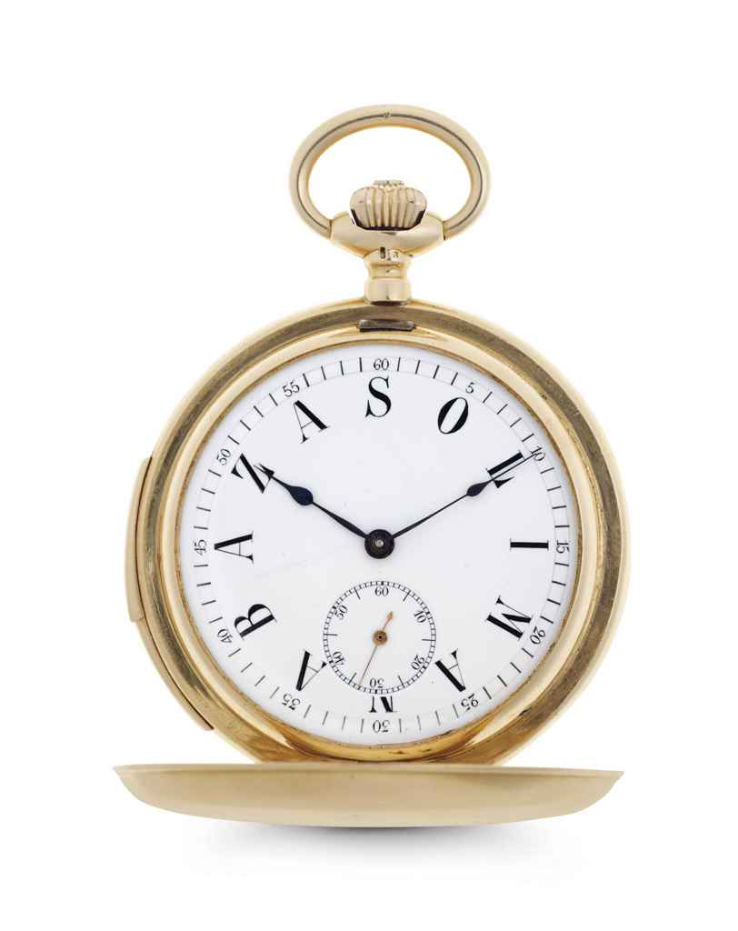 swiss an 18k gold minute repeating keyless lever