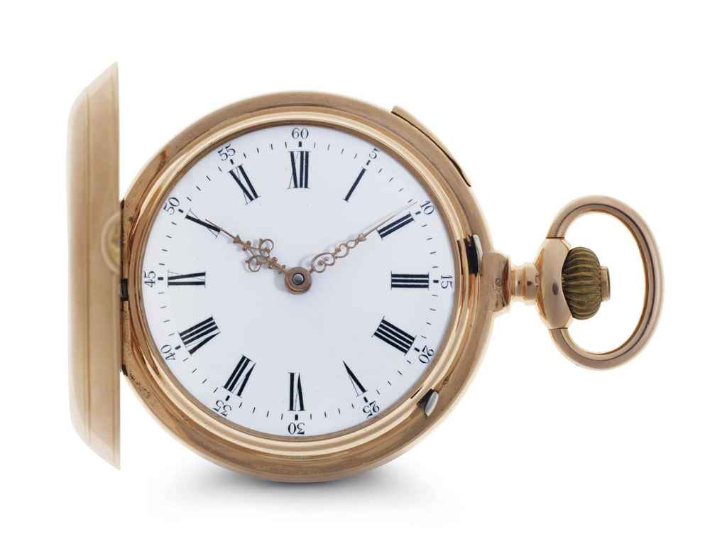 swiss an 18k pink gold quarter repeating keyless lever