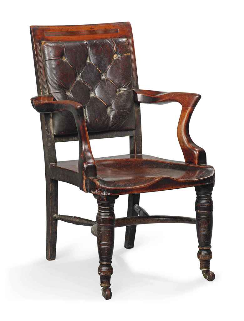 Attirant Victorian Office Chair. Victorian Mahogany Solid Seat Desk Chair With  Leather Back For Office Q