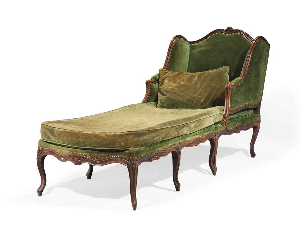 Chaise longue brisee d 39 epoque louis xv milieu du for Chaise louis xv