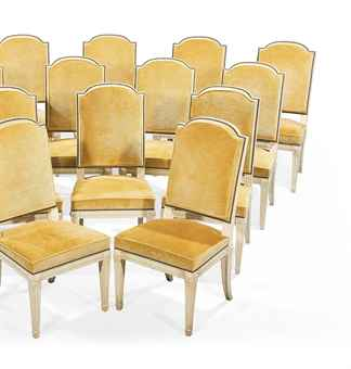suite de quatorze chaises de salle a manger de style louis