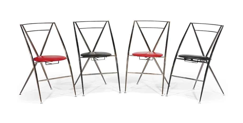 yamakado suite de quatre chaises 39 cinderella 39 le mod le cr en 1987 christie 39 s. Black Bedroom Furniture Sets. Home Design Ideas