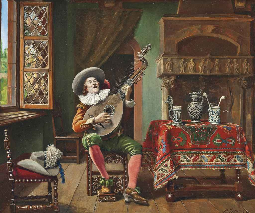 Marcel Brunery (French, 1893-1982) , The Troubadour ...