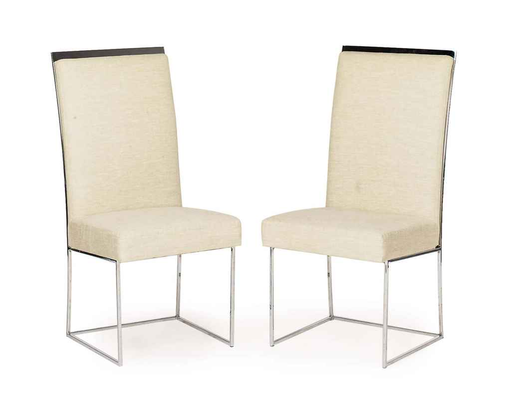 Linen Covered Dining Chairs Country