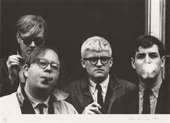 Andy Warhol, Henry Geldzahler, David Hockney and Jeff Goodman, from: The Geldzahler Portfolio, 1998