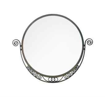 A FRENCH ART DECO WROUGHT-IRON WALL MIRROR | CIRCA 1925 ...