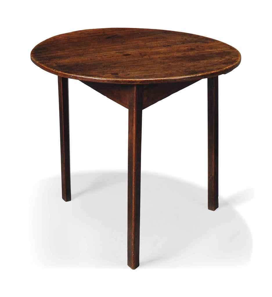 A GEORGE III ELM CRICKET TABLE